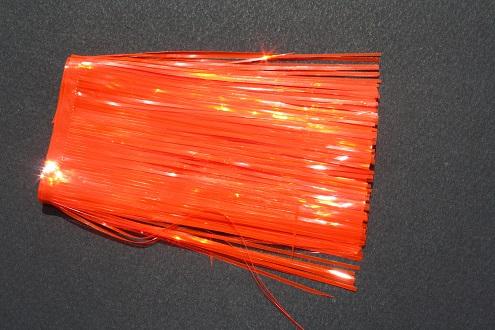 "Transparent Fire Orange Flat with UV Edges 4"" Standard Cut"