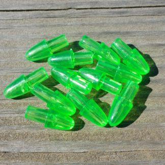 Green bullet heads