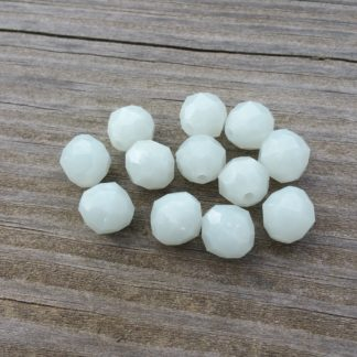 White beads