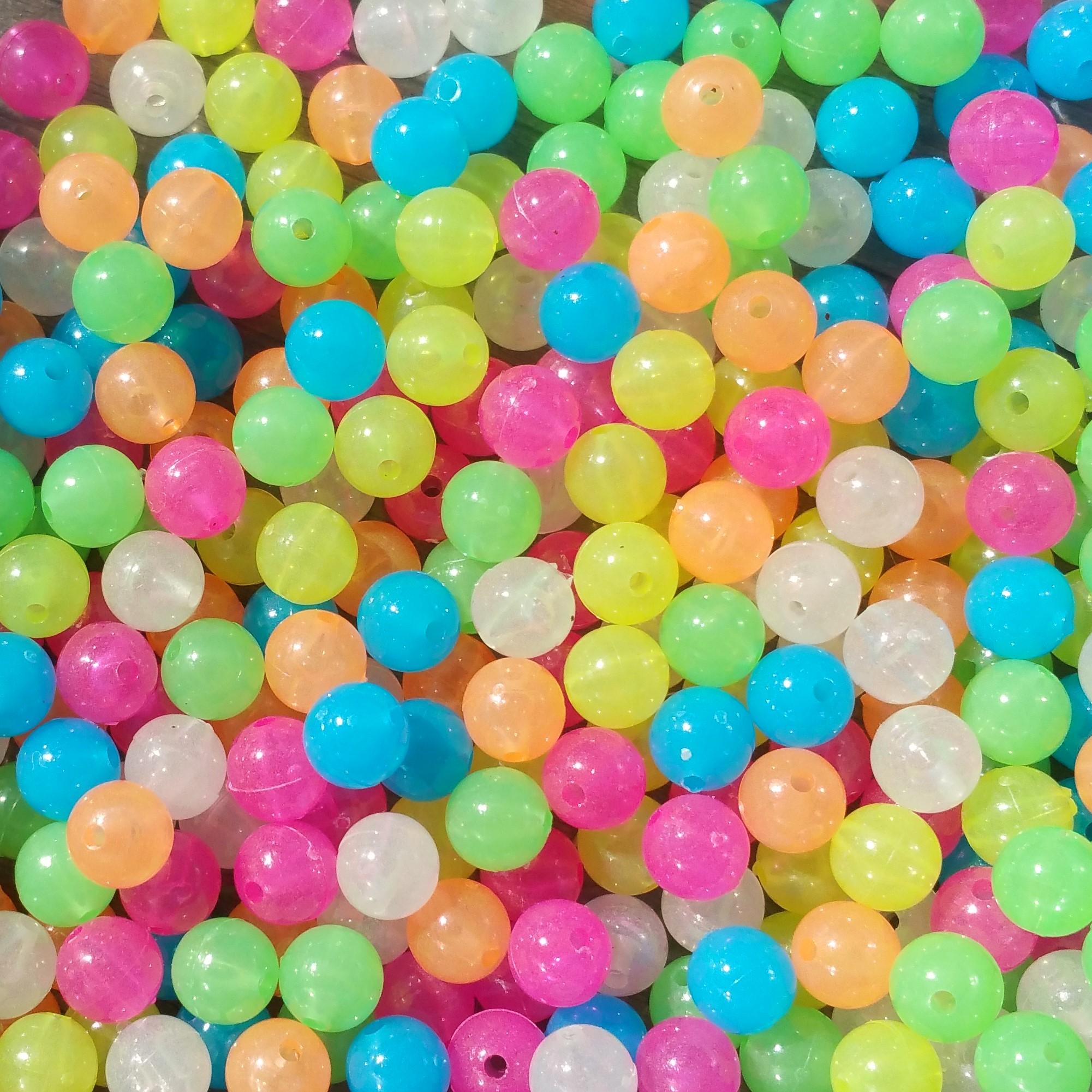 Glow Beads - Mix 8mm